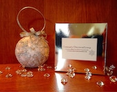 Silver Snowflake Quilted Christmas Ornament