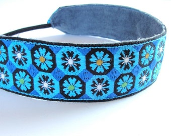 Boho headband  jacquard head band trim women hair