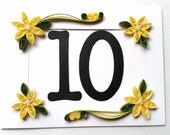 Yellow Table Number Photo Frame Card for Weddings - Assorted Colors available - Made to order