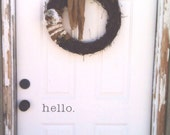 Hello or Welcome Door Vinyl