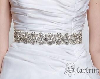 SALE Caitlin  Wedding Belt, Bridal Belt, Sash Belt, Crystal Rhinestones
