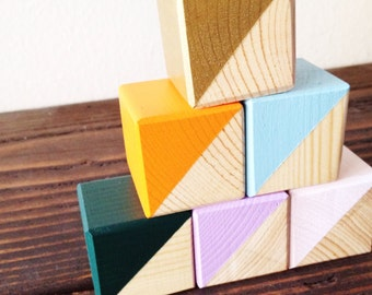 Painted Wood Blocks /// Customize Colors