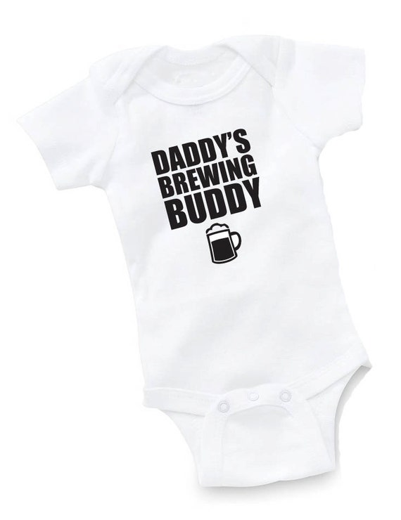 daddy u0026 39 s brewing buddy onesie bodysuit baby shower gift