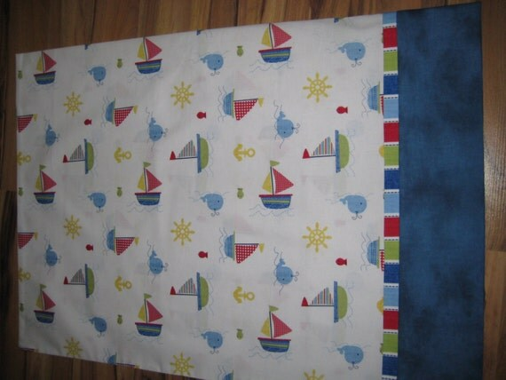Items similar to new fabric nautical theme with sailboats for Fishing themed fabric
