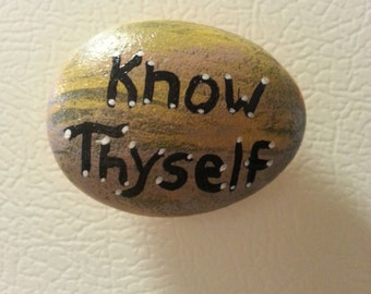 Know Thyself Stone Magnet