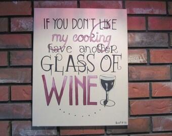Wine Canvas Art, Kitchen Sign, Kitchen Art, Wine Quote, Canvas Art Quotes, Kitchen Quote, Canvas Art, Home Decor, Wine Decor