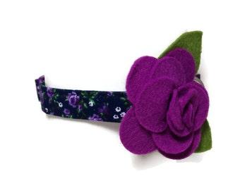 V.I.P. Purple Rose Dog Collar