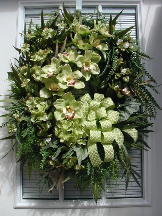 Tropical Wreath Spring Wreath Summer Wreath Hawiian Decoration