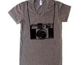 Womens Vintage Camera T Shirt - American Apparel Tshirt - S M L XL (20 Color Options)