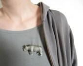 Plastic Animal Brooch Rhino OOAK