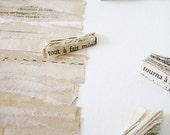 Chansons d'été / Summer Songs - Original Artwork, paper art, book art, tea-stained paper, miniature books, collage, French text, love, 9x12