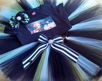 Beetlejuice inspired tutu outfit