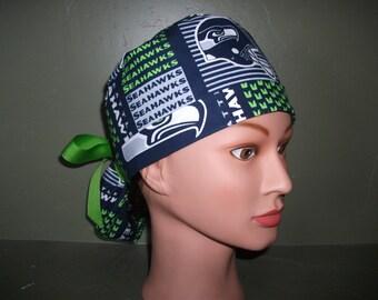 NFL Seahawks ponytail scrubcap