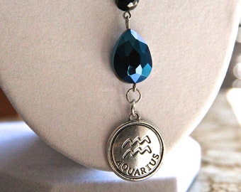 Aquarius The Water Bearer Zodiac of History Geek Girl Necklace WAS 18 NOW 8 dollars