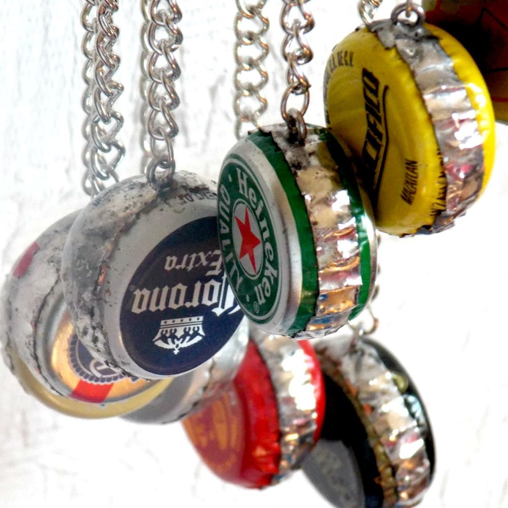Beer bottle cap wind chime bud by reaghansrose on etsy for Bottle cap wind chime