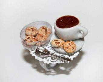 Coffee Ring - Coffee Cup  and Cookie Ring  - Kawaii Ring - Food Ring