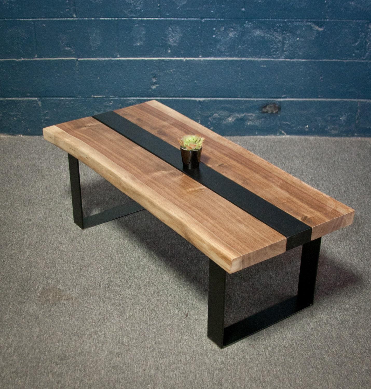 SALE Black Walnut Wood Live Edge COFFEE Table by ElpisWorks