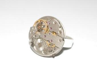 Steampunk adjustable ring