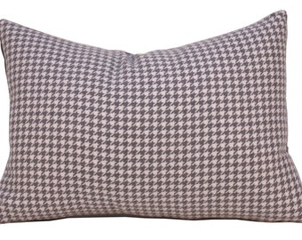 Throw Pillow - Decorative Pillow - Houndstooth Pillow - Toss Pillow - Pillow Cover