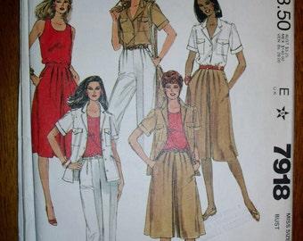Vintage McCall's Wardrobe Pattern 7918