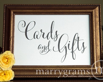 Cards and Gifts Table Sign - Wedding Table Reception Seating Signage - Chalk Style, Matching Numbers Available Card, Gift Sign - SS07