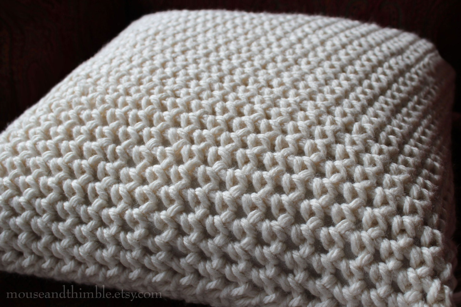 Beginner Crochet Pillow Patterns : Crochet Pillow PATTERN Super Bulky Chunky / Beginner Skill