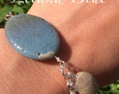 RESERVED for Ann- Gift for Auntie- Leland Blue Stone & Petoskey Stone Bracelet