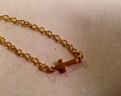First Communion Necklace - Cross Necklace - Baptism - Girls Jewellery - Gold Chain Jewelry