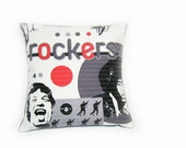Quilted cushion cover - rockers