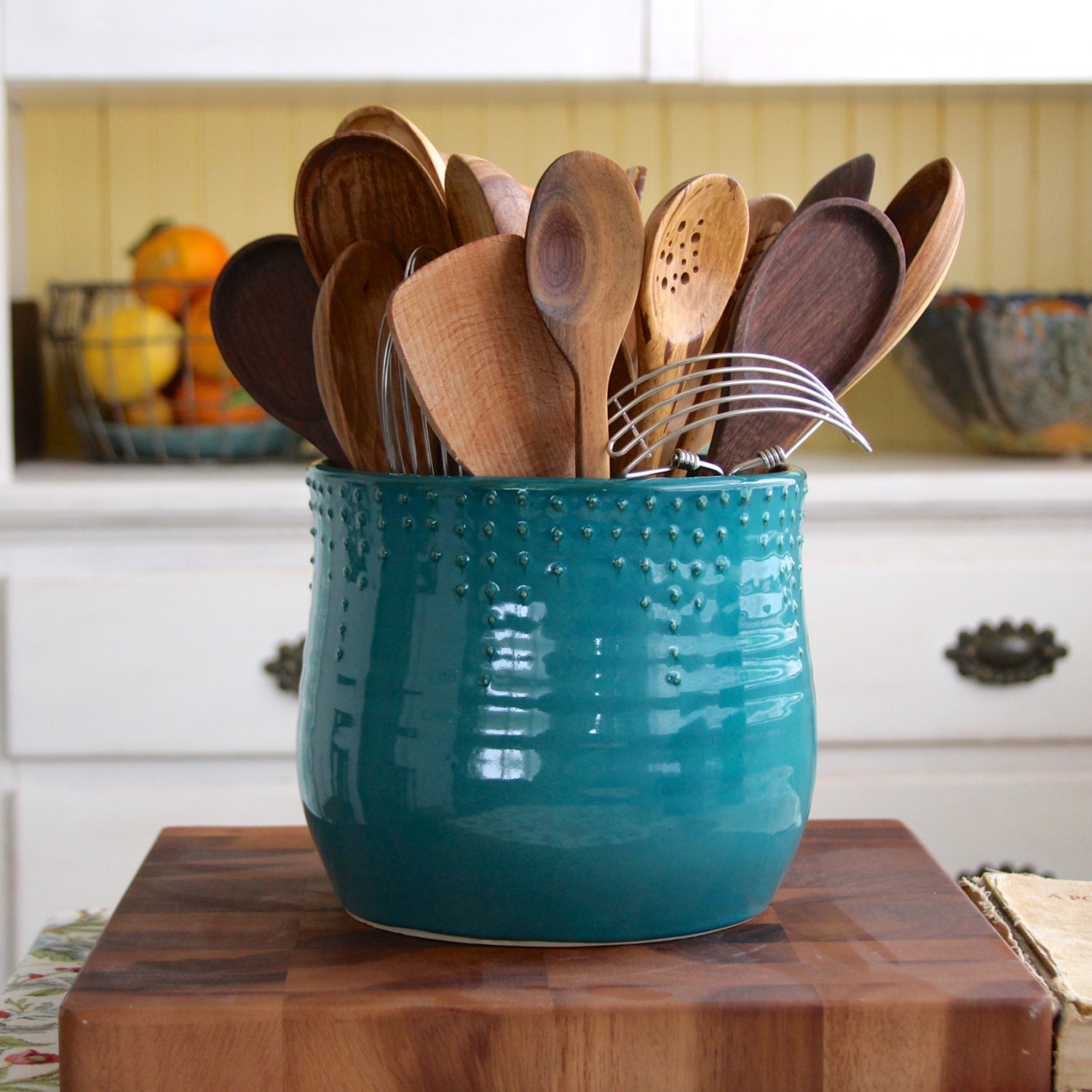 Extra Large Kitchen Utensil Holder Custom Color By