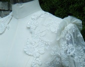 Super Sample Sale Rock Glam Bolero Ivory Lace with handsticked flowers along edge