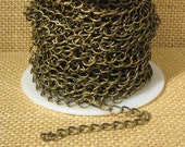Curb Chain - Antique Brass - CH47 - Choose Your length