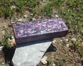 Purple lace necklace bracelet box in black and purple wooden box