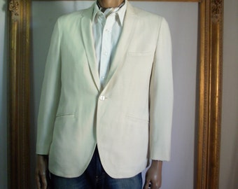 Vintage 1960's Benedetti Crean Colored Wool Jacket - Size 42