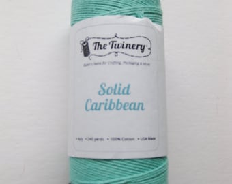 Full Spool - SOLID CARIBBEAN - Teal Bakers Twine (240 yards)