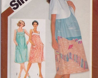 Simplicity 9921, Size 14, Maternity Sundress with Self-Lined Bolero Jacket Pattern, UNCUT, Retro, Vintage 1981, Flashback, Sundress