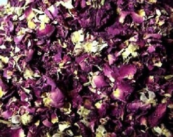 Pretty Dried RED Roses RED Rose Petals buds 1/2 pound  8 OZ Bulk roses