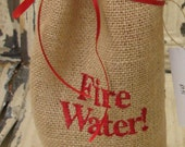 Fire Water  Hostess Gift Bag Reuseable for Wine, Candles