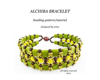 Alchiba Bracelet - Beading Pattern/Tutorial - PDF file for personal use only