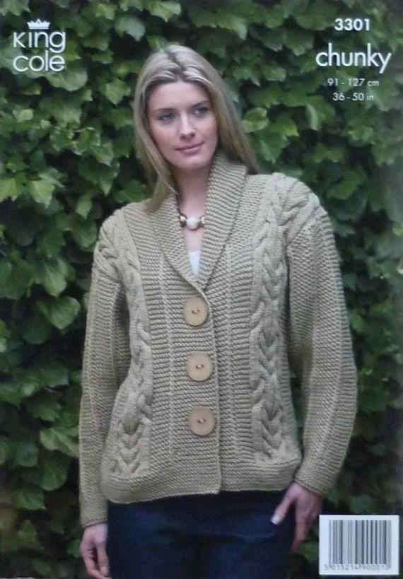 Knitting Pattern Ladies Long Coat : Womens Knitting Pattern K3301 Ladies Long by ...