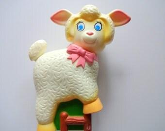 Vintage Musical Lullaby Lamb Crib Toy 1982