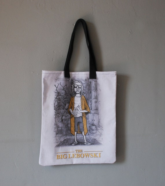 etsy art The Dude Big Lebowski Tote Bag Black Friday Cyber monday sales