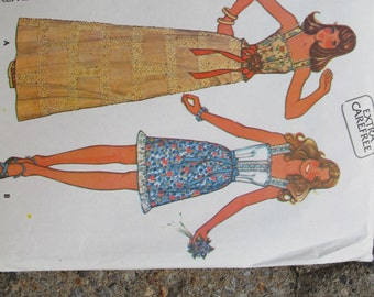 SALE McCalls 4021 Sun Dress and top UNCUT (size 8) / Boho sun top and skirt / Prairie top and skirt