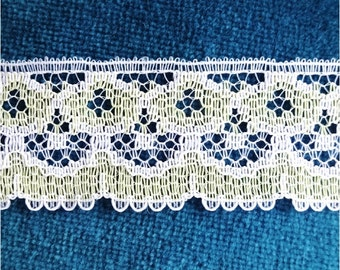 Vintage Yellow and White Lace 3 yds