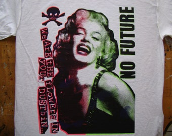 marilyn monroe no future seditionaries style shirt by addicted to chaos sizes small - XL