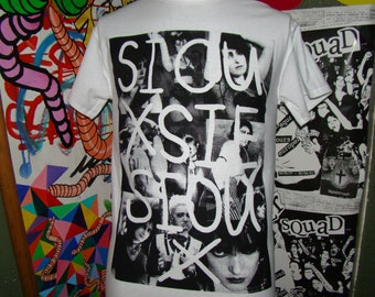 siouxsie sioux collage punk t shirt sizes SM - XL