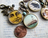 SALE! Double Sided Pendants, Set of 7