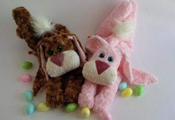 Plush Bunny Rabbit Stuffed Animal Pattern Instant Digital