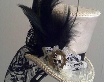 Alice Steampunk Wonderland, Kawaii Lolita MIni Top Hat Dark Alice McGee Cosplay - Your colors