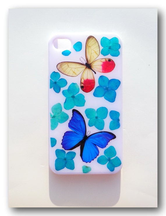 Handmade iPhone 4/4s case, Resin with Dried Flowers, Pressed flower art (18)